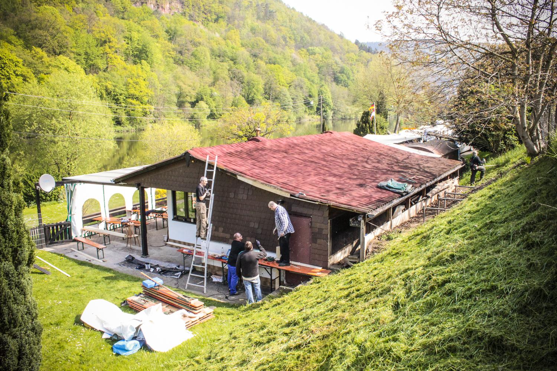 1 Arbeitseinsatz am Anglerheim